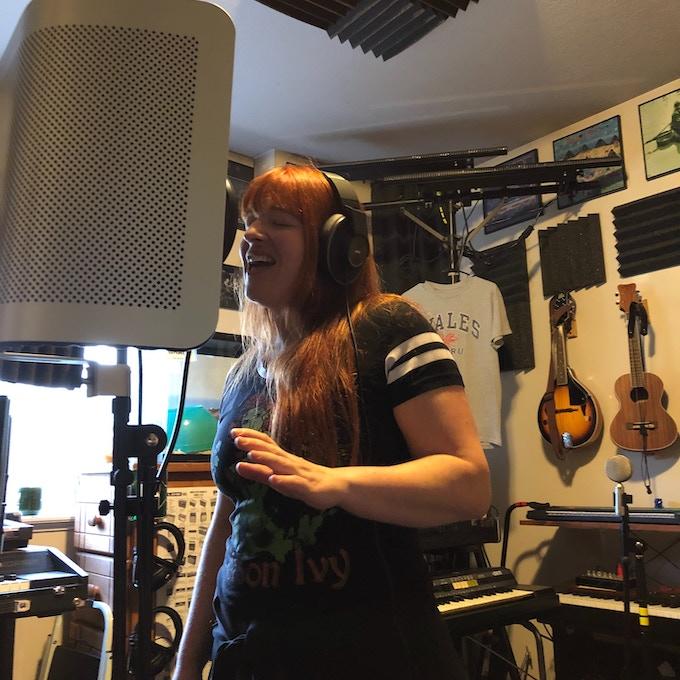Recording at Coop's Studio, Mattawan MI, photo by John Cooperider (2019)