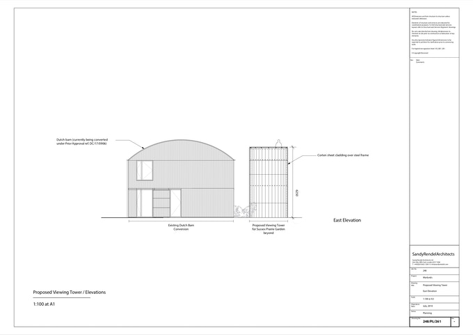 Sandy Rendel Architects - tower drawing 1