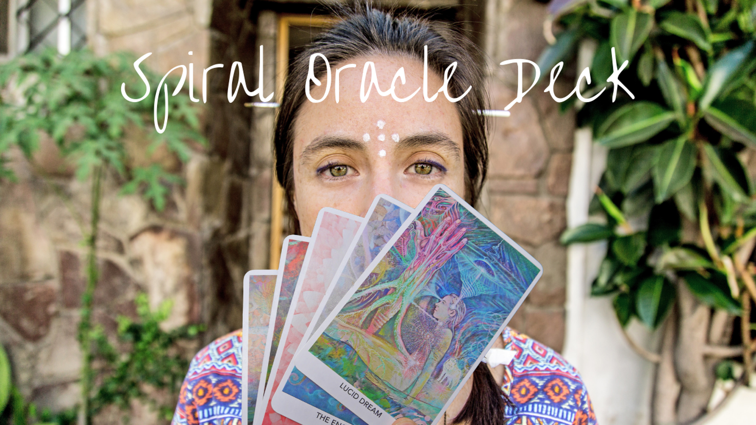 A colourful Oracle Deck featuring original artwork & writings by artist Lili Acuña.