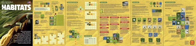 Click here to see the English HABITATS base game rulebook (DE/FR/NL are in the game box too).