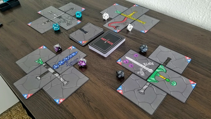 Here's the layout with a four player game.