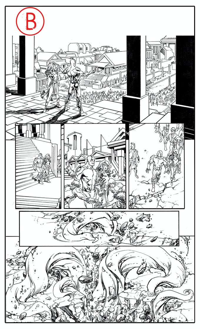 Dread Gods issue #1, page 7, by Tom Raney