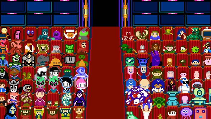 The audience of the award show were the characters from the games