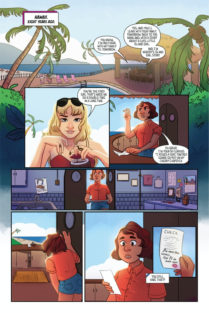 Page 5 – Kai and Isa, in what feels like a lifetime ago...