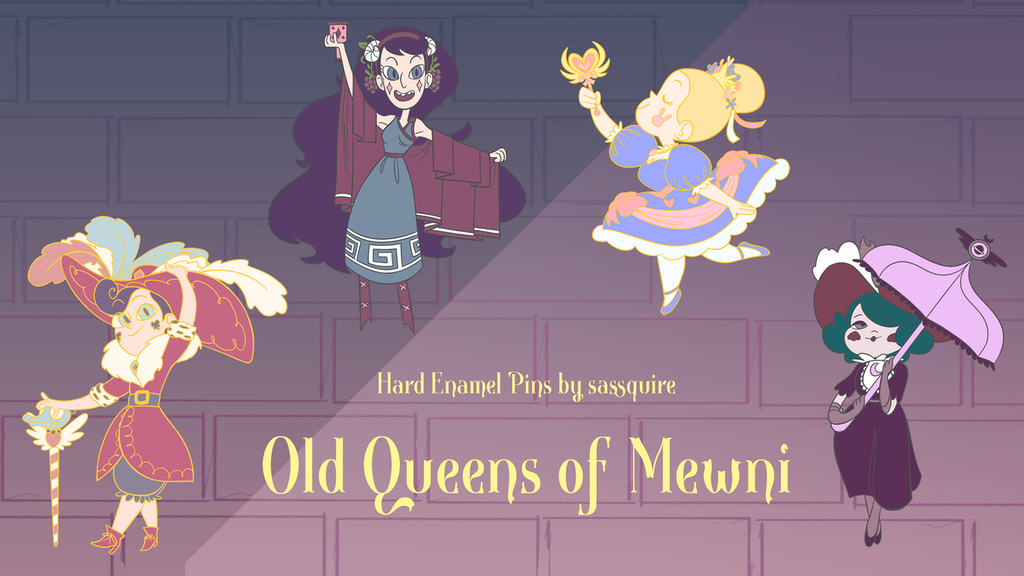 Old Queens Of Mewni Star Vs The Forces Of Evil Enamel Pins