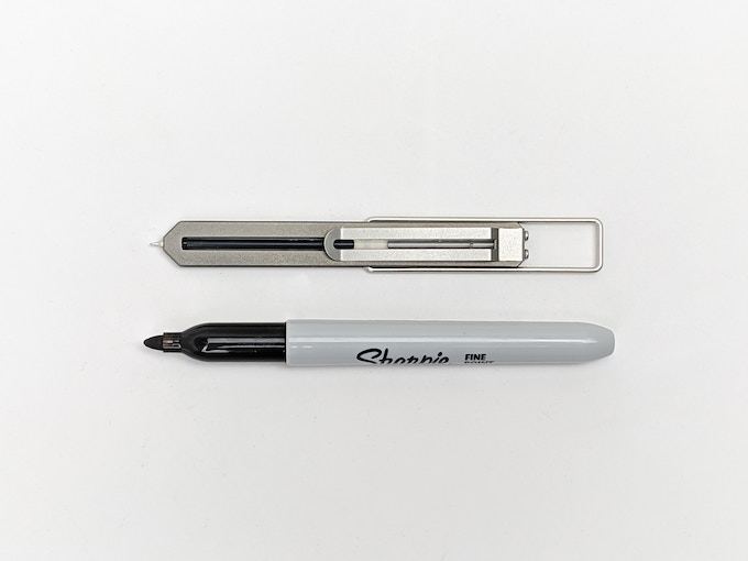 Pen Type-C compared to a Sharpie (thank you Michal for the suggesting this comparison!)
