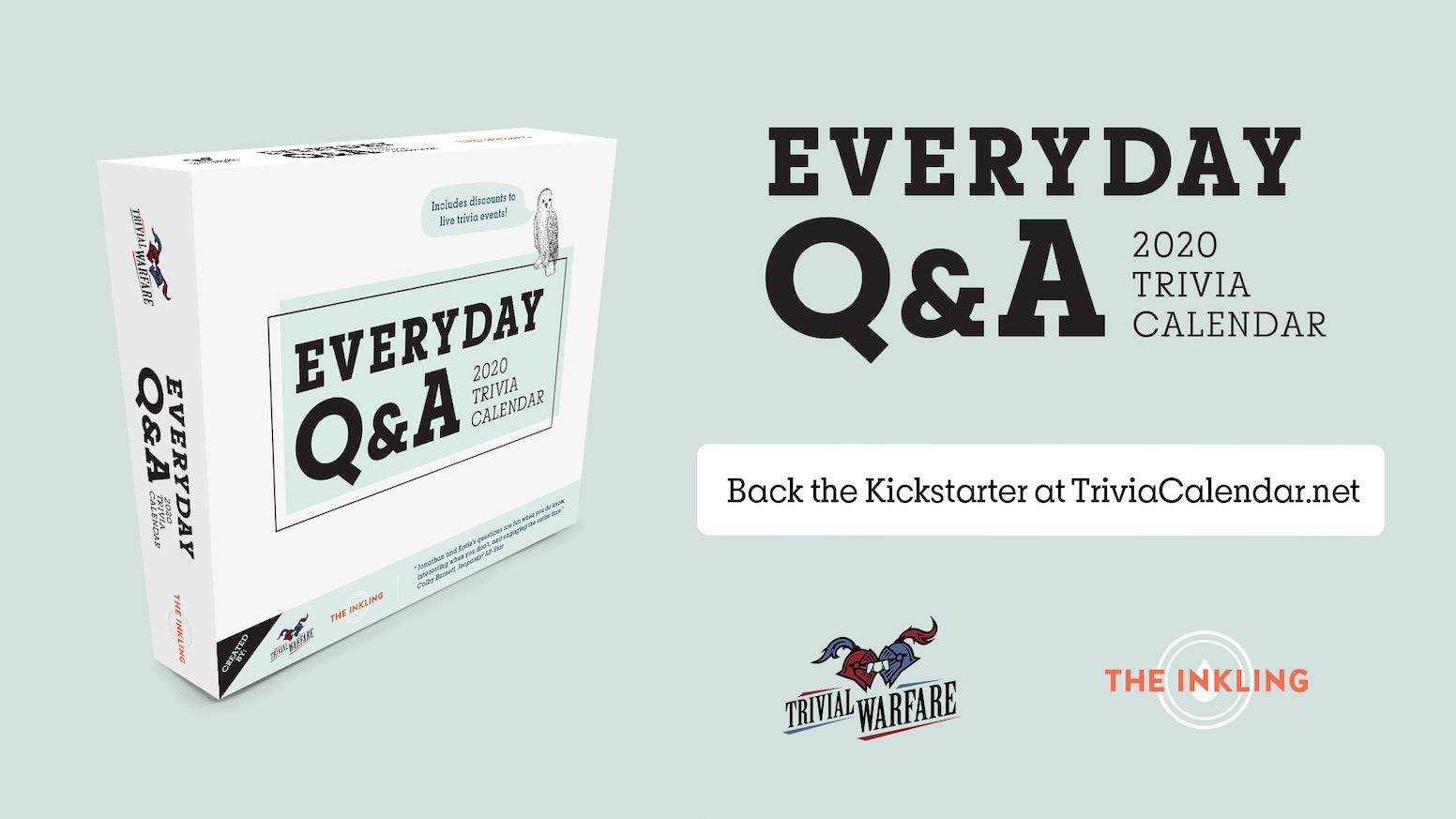 Best Kickstarter Videos 2020 Everyday Q&A 2020 by K. Sekelsky — Kickstarter