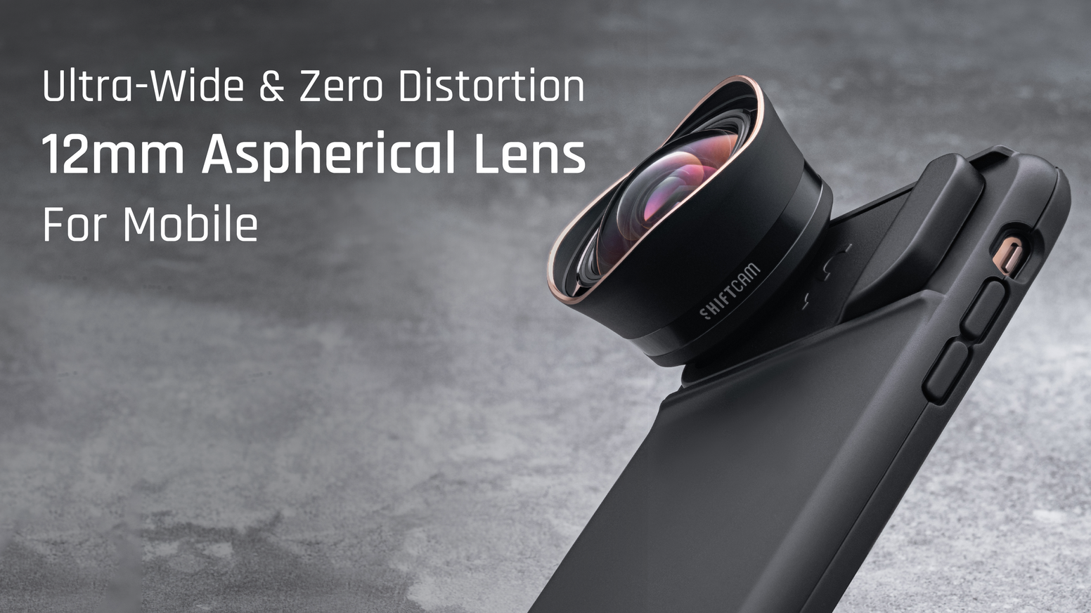 SEE MORE THAN EVER BEFORE WITH THE SHIFTCAM 2.0 12MM ULTRA WIDE ANGLE ASPHERICAL LENS FOR MOBILE PHONES