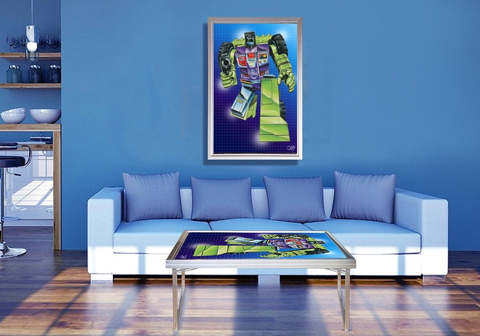 Transformer Art in Table-Art what a great Pop Art look with Toys of your Childhood Enjoy!