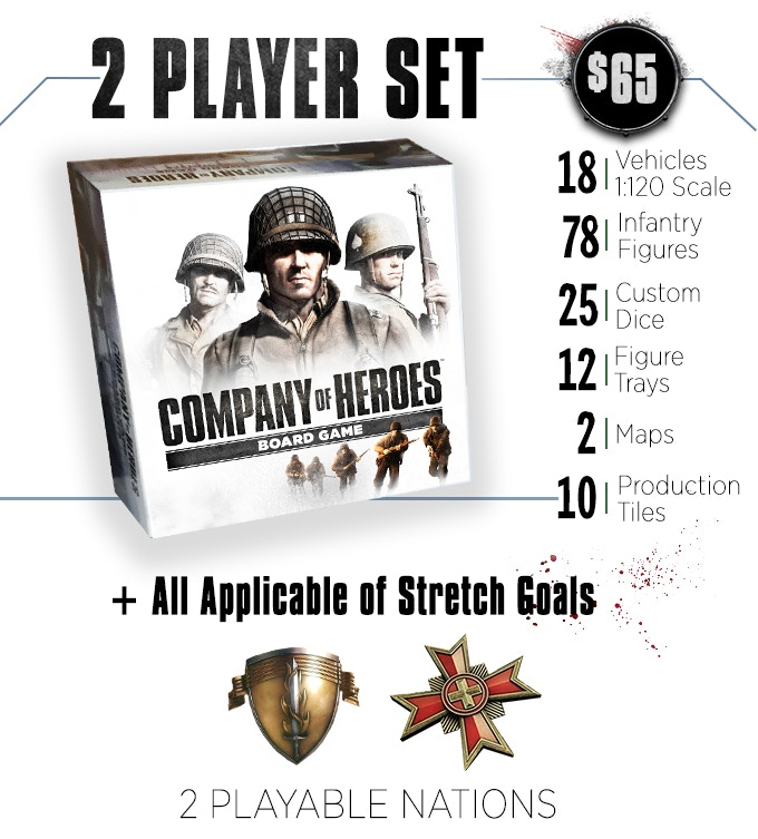 Applicable stretch goals include all nation specific bonus units and universal components. Includes bonus Monastery map.
