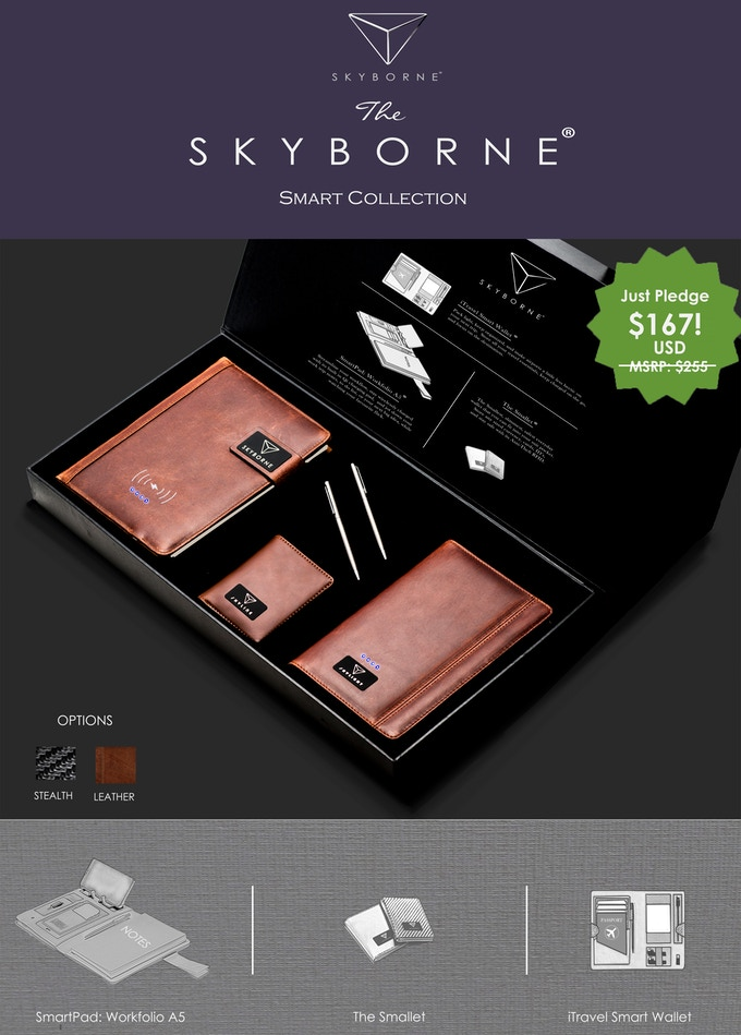 Get the full Skyborne Smart Collection® at our exclusive Kickstarter early bird pricing!