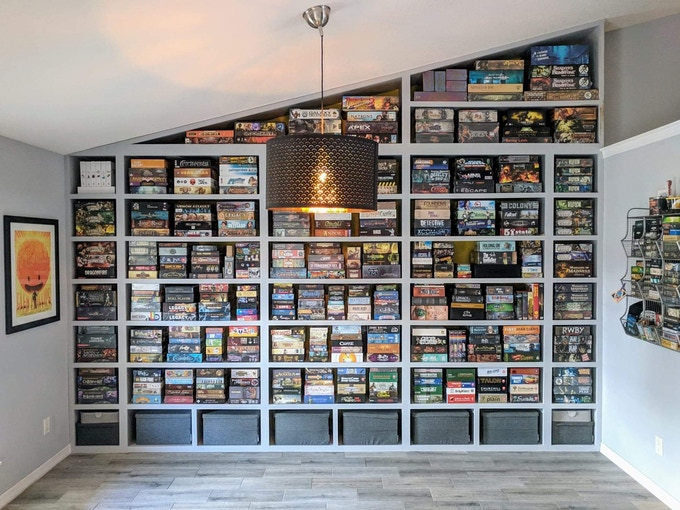 Board game collection.