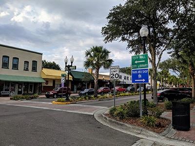Main Street Zephyrhills, Florida.