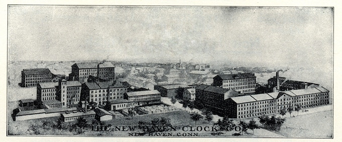 The New Haven Clock Factory in 1907
