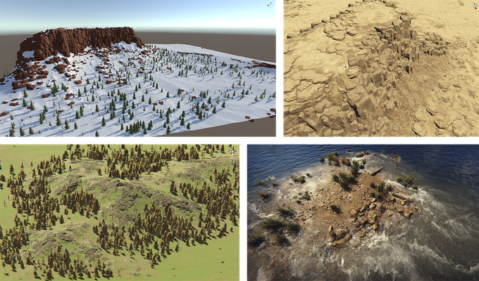Screenshots were made while we were prototyping our terrain.