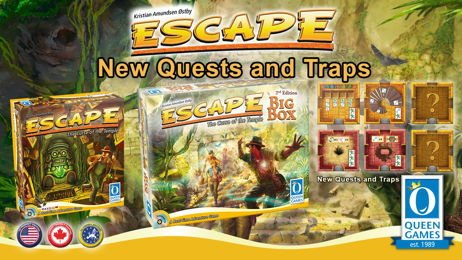 Get the full Escape experience with the Big Box alongside the new Quest & Trap chambers!
