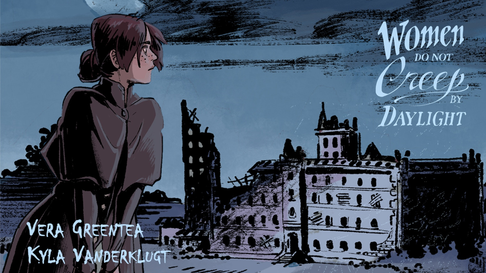 Support a brooding ghost story about a castle with a secret. One-shot comic written by Vera Greentea and art by Kyla Vanderklugt.