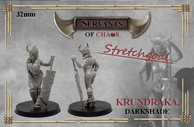 When funding reaches 2000€ Krundraka will be unlocked as free miniature for each pledge over 50€ (without shipping).