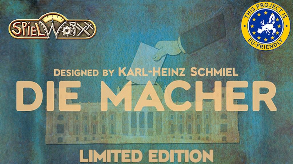 Die Macher: Limited Edition By Indie Game Studios