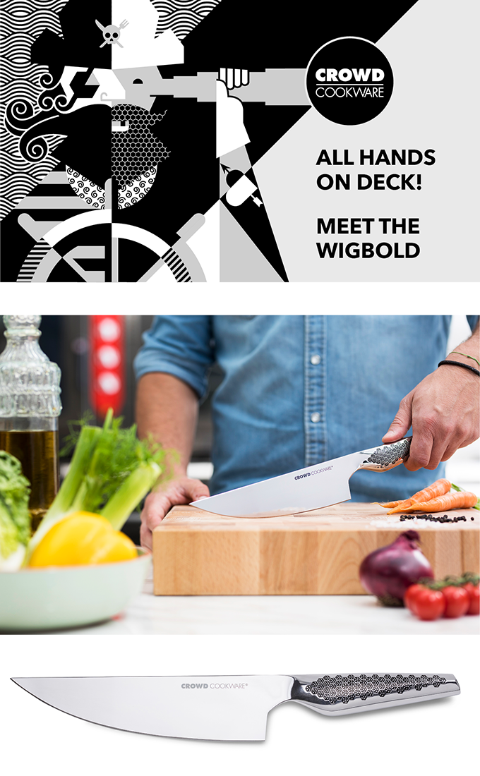 The Wigbold chef's knife: lifetime sharp by Crowd Cookware