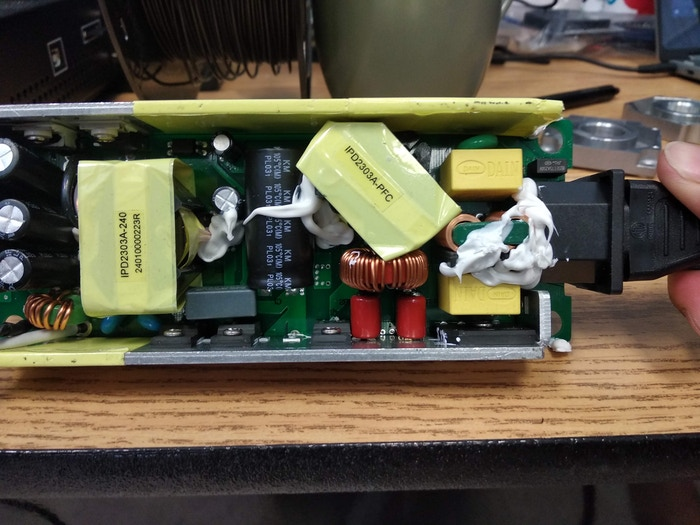 Inside of the power adapter