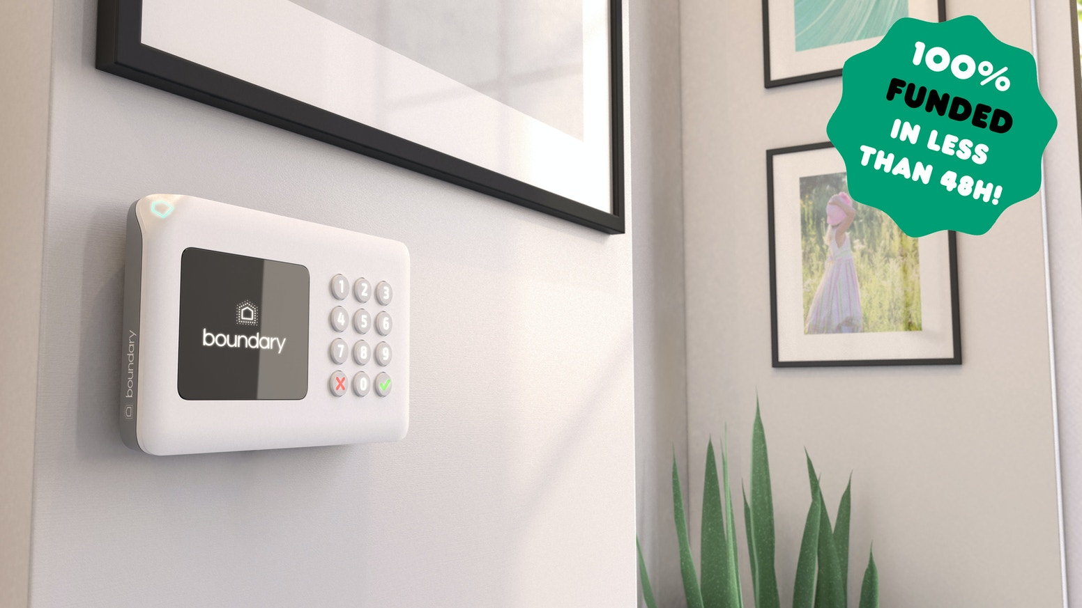 Boundary will offer a state-of-the-art alarm system which you can install yourself, self-monitor and control with your phone.