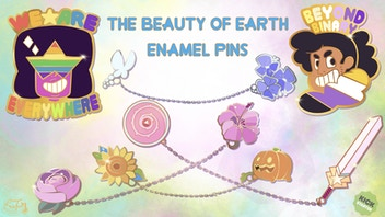 The Beauty of Earth: Chain Linked Enamel Pins