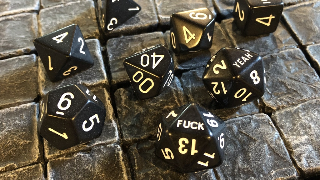 Project image for Fuck Yeah D20 Dice Sets