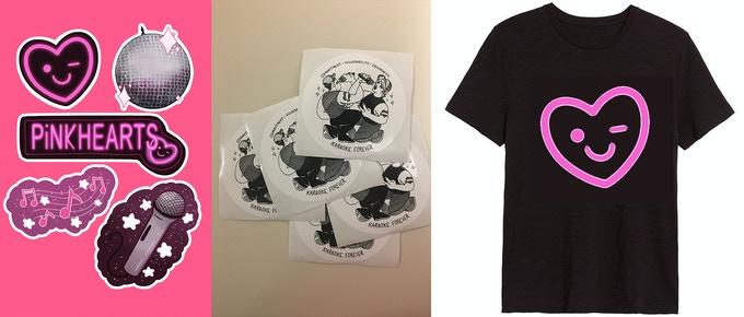 """Stickers from the """"So Good Up There!"""" tier and T-shirt from """"Star Power!"""""""