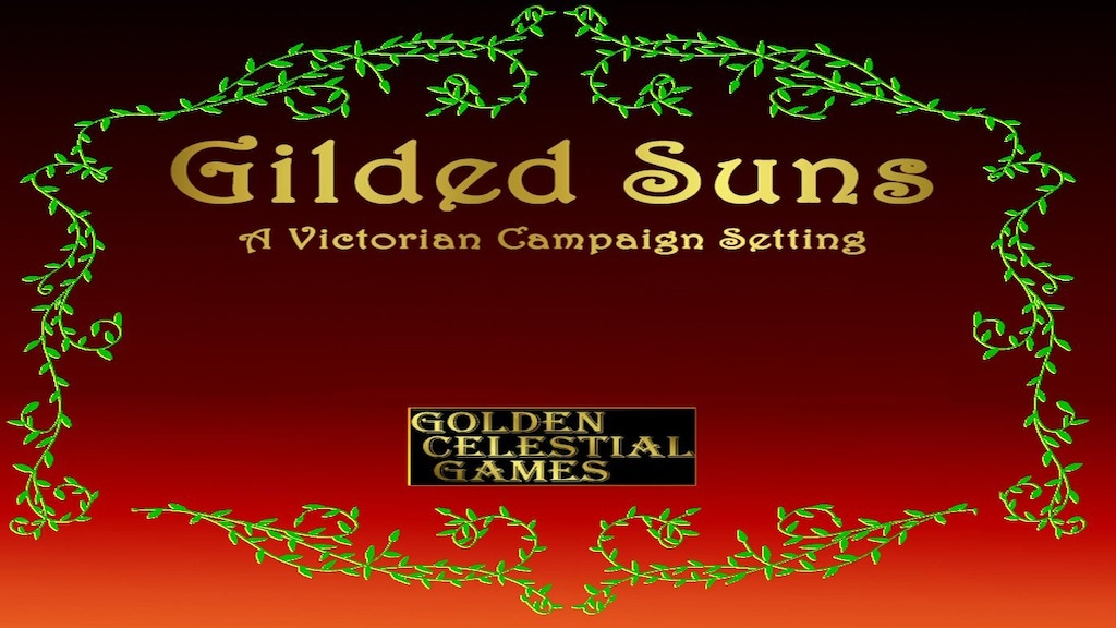 Project image for Gilded Suns: A Victorian Pathfinder Campaign Setting
