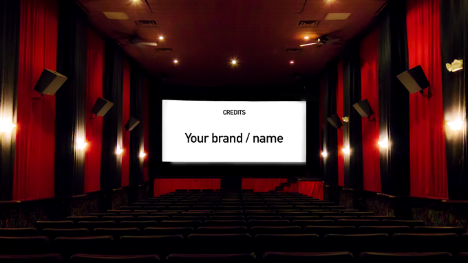Bring deinen Namen oder Firmenlogo in den Abspann (Get your name or brand logo into the credits)