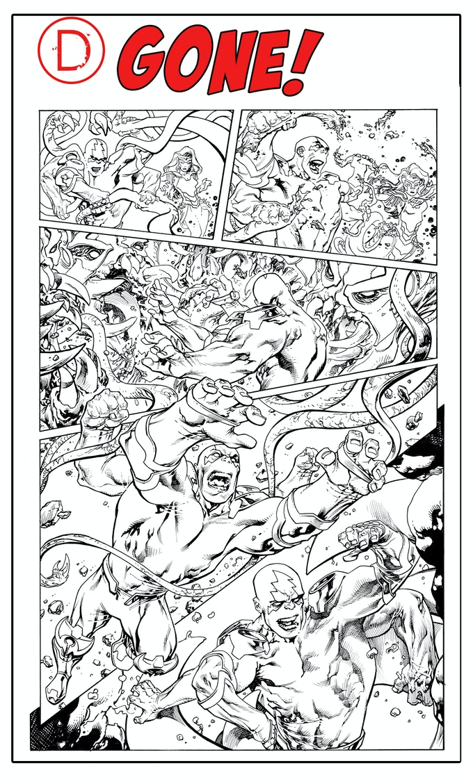 Dread Gods issue #1, page 11, by Tom Raney - GONE!