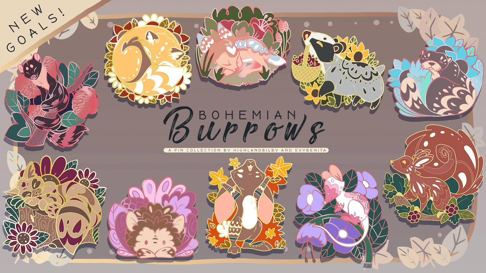 Boho Bunnies and Flashy Foxes. For lovers of Woodland critters and fun patterns, inspired by Bohemian fashion.