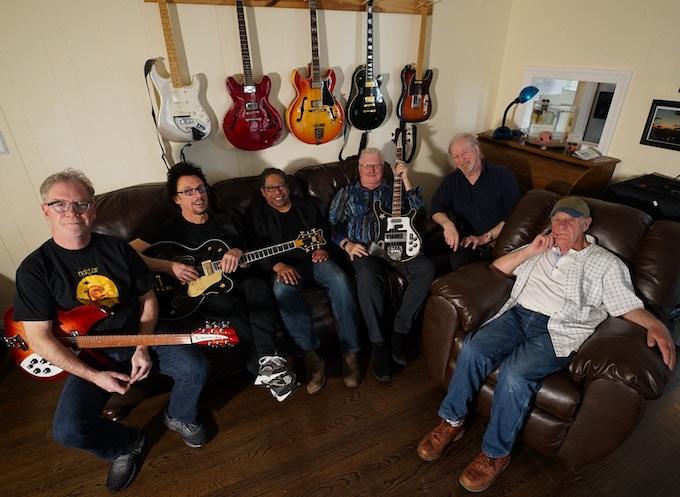 "Nektar taking an in-studio break; Randy Dembo, Ryche Chlanda, Kendall Scott, Derek ""Mo"" Moore, Mick Brockett, Ron Howden -  Photo Credit: Jay Petsko"