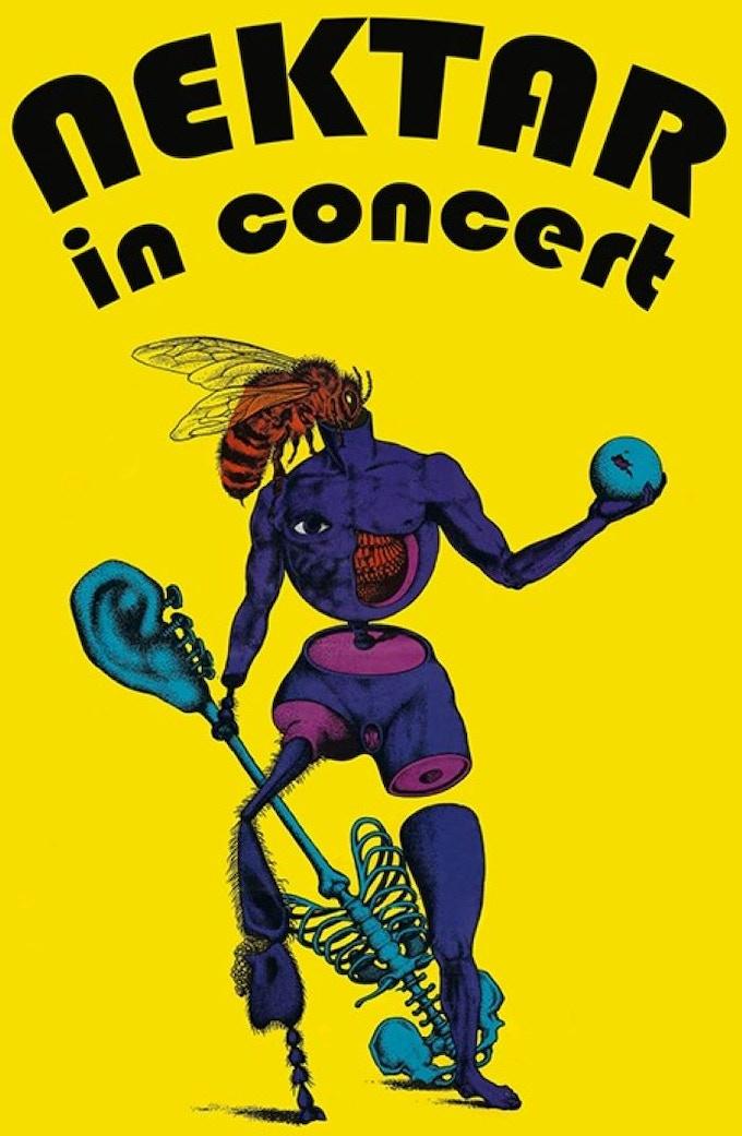 Original 1970's Nektar Man Artwork by Helmut Wenske  -  Original/Reproduction Posters and Classic Nektar Yellow T-Shirts
