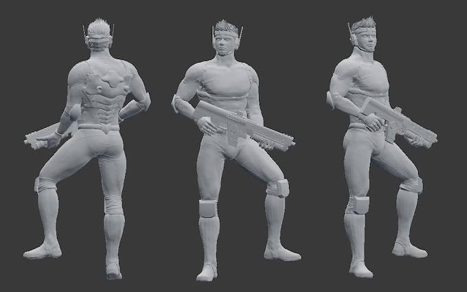Render de Lars (El modelo puede cambiar dependiendo de la impresión 3d)