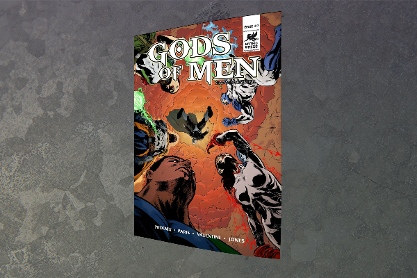 Issue #2 Cover - Clash Of The Gods