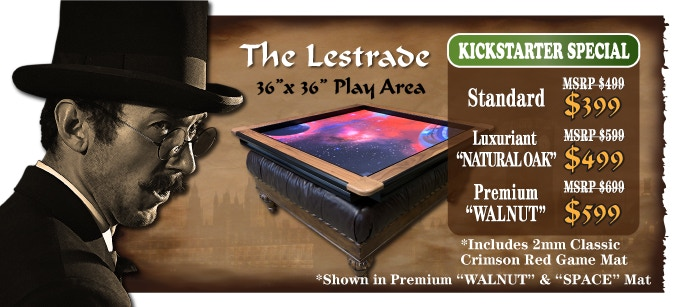 Lestrade shown in Premium Walnut with Space Mat (Click picture to see game orientations)