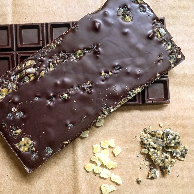 Ginger & sesame brittle bar