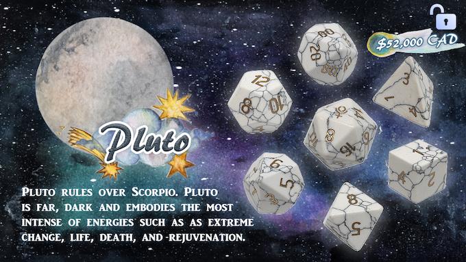 Handmade Zodiac Pure Gemstone Dice 2 by Diving Hippo Studio
