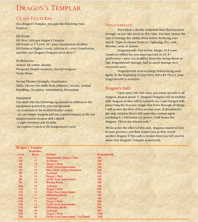Teaser for The Dragon's Templar. (Click image for PDF)