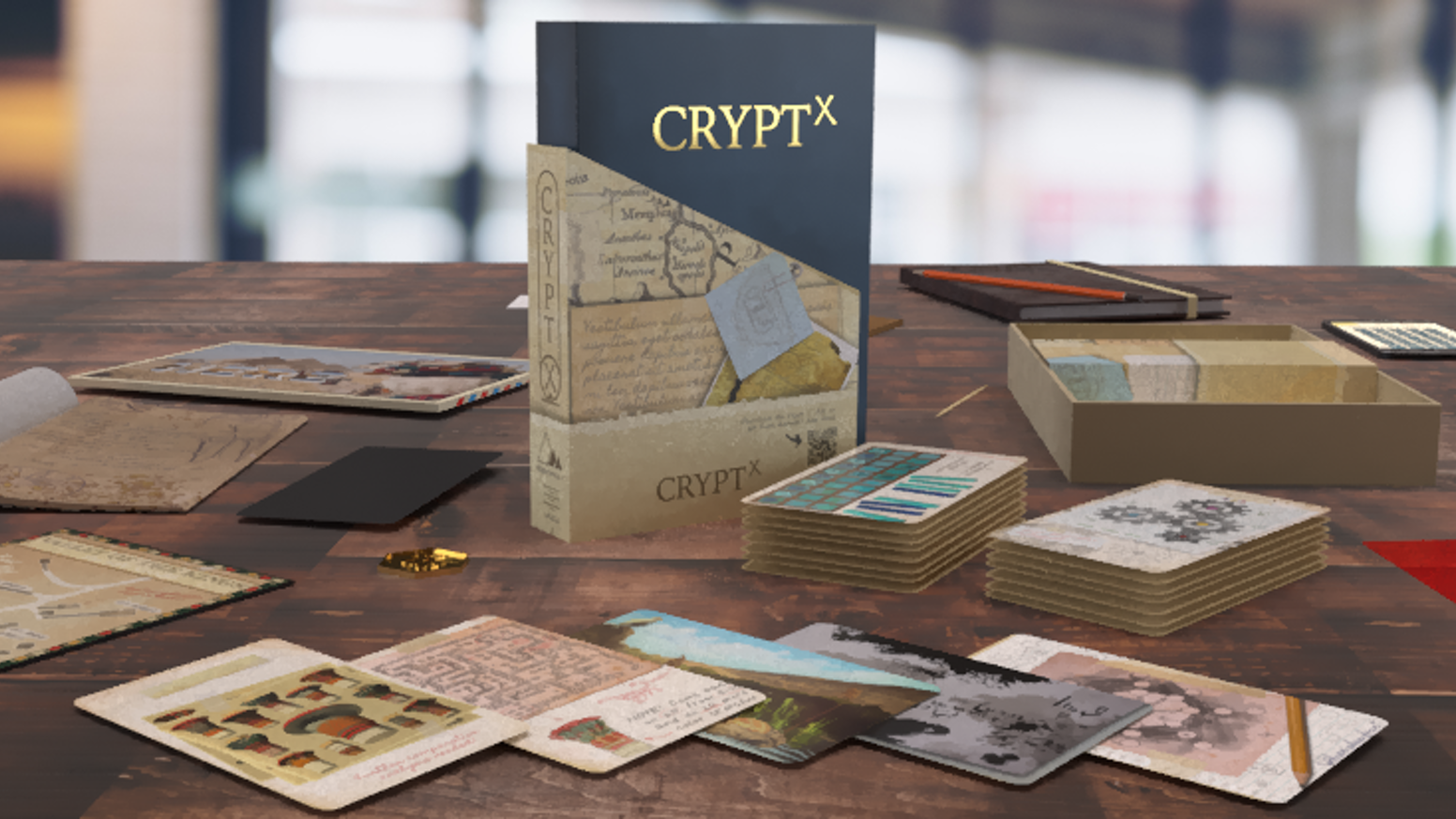 A missing archaeologist, an ancient tomb, a curious notebook. Can you uncover the secrets hidden deep within Crypt X?