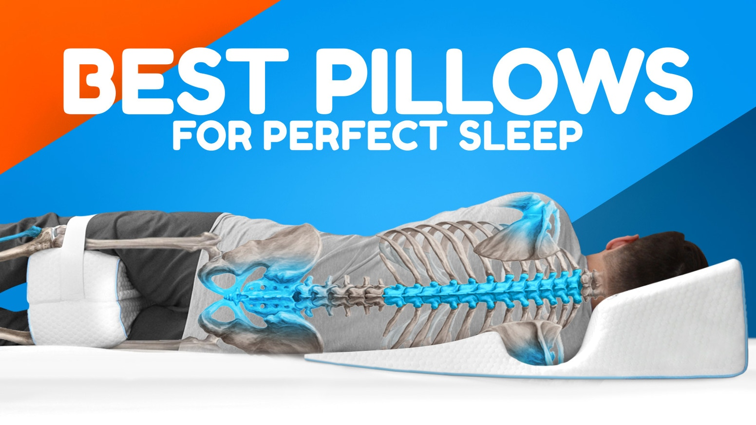 Orthopedic pillows will deliver the best posture that helps when suffering from heartburn, back/neck/joint pain, snoring and more