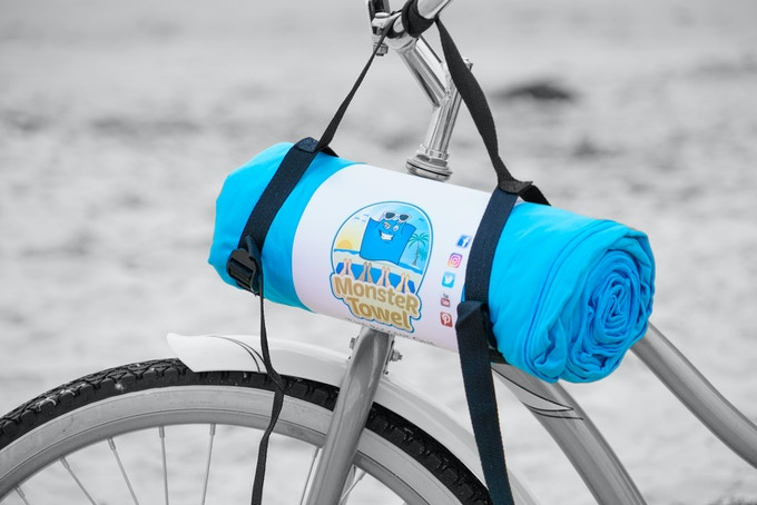 "Monster Towel is easy to take to the beach! Takes the place of six ""normal"" size beach towels"
