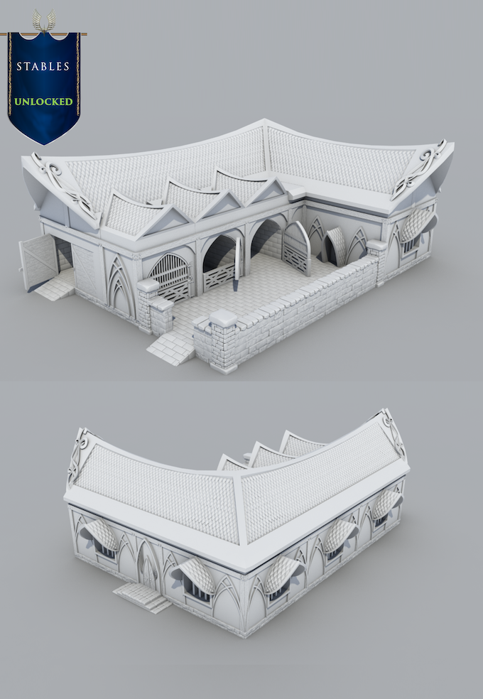 Rendered image of model.