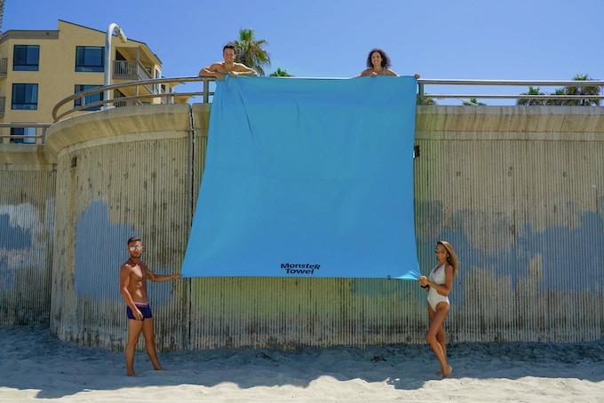 Monster Towel is HUGE 10x10 feet! That is 100 square feet!