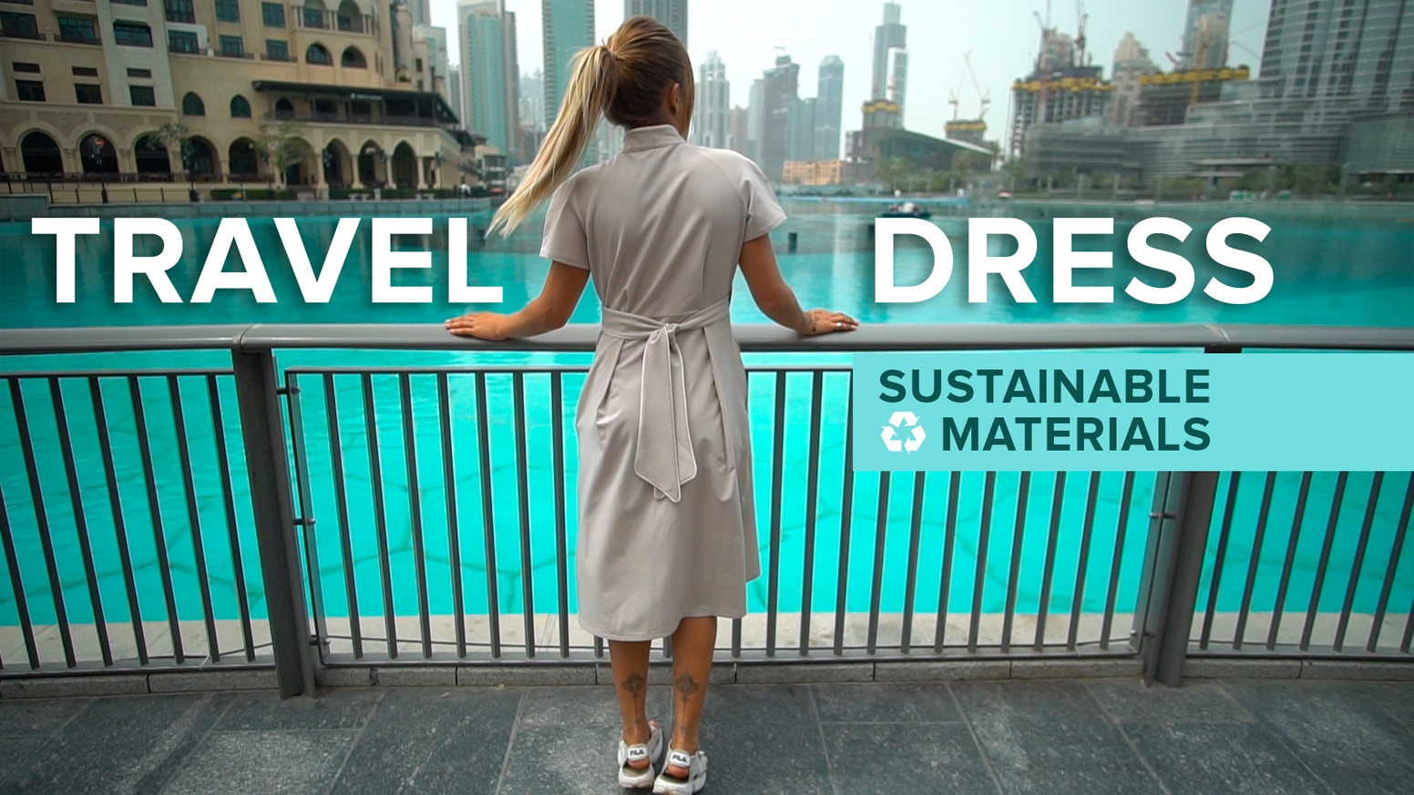 15 travel features, 3 pockets, soft, lightweight wrinkle resistant sustainable&recycled material.  Buy dress - clean the ocean!