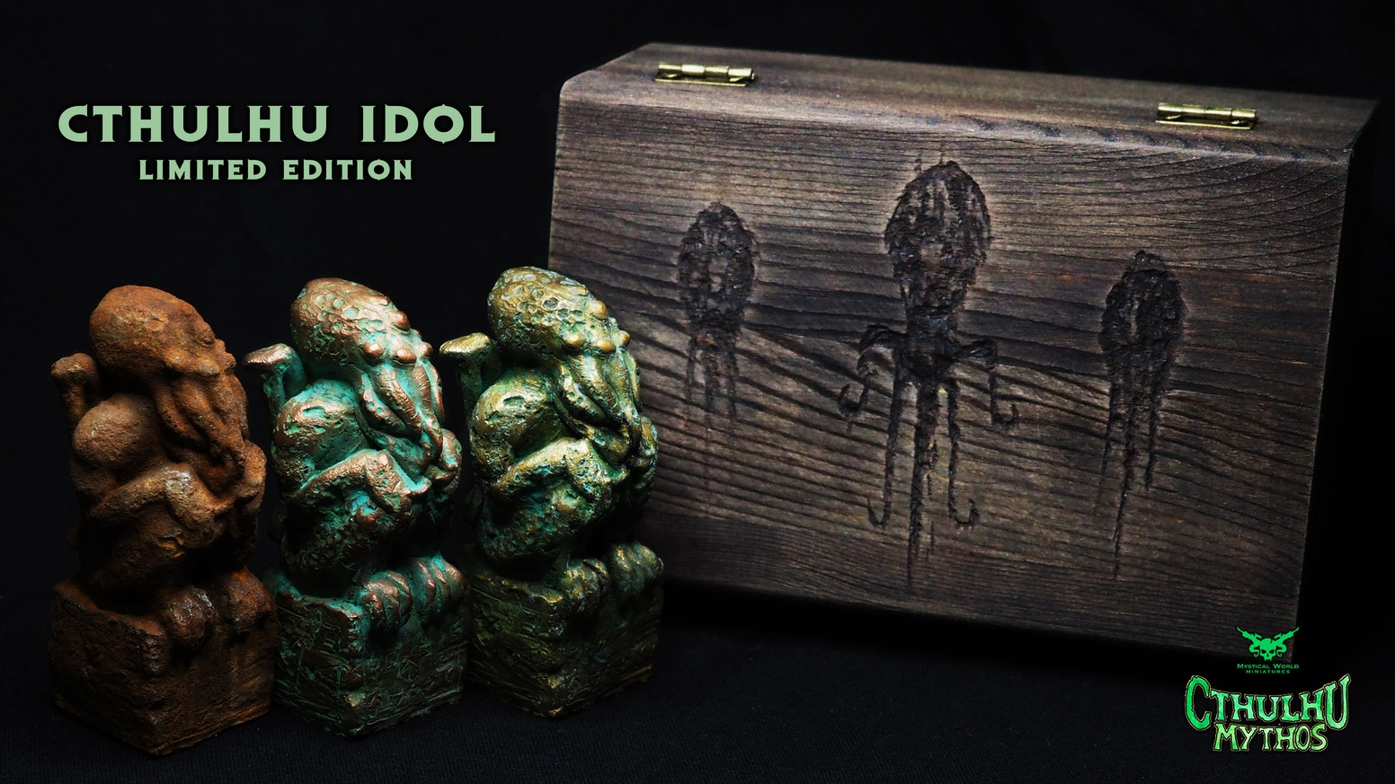 """We present our Cthulhu Idol inspired by """"The Call of Cthulhu"""", from glorious work Cthulhu Mythos, written by the great H.P. Lovecraft."""