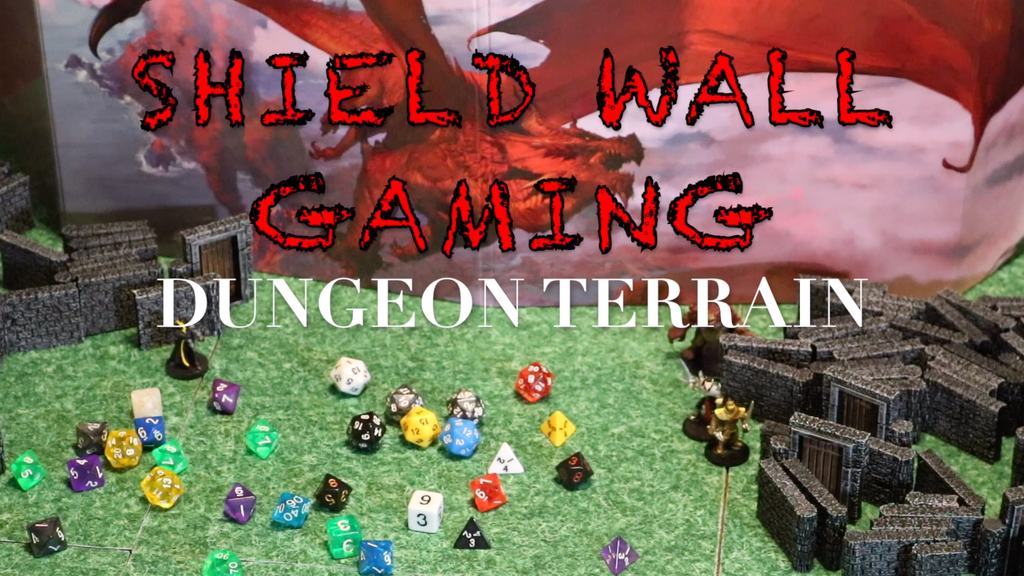 Shield Wall Gaming Terrain: Dungeons Set - STL project video thumbnail