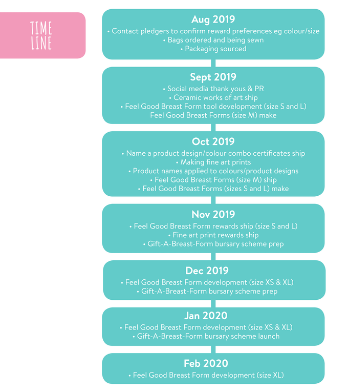 Timeline for delivering rewards and developing our product with your support